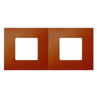 Декоративная накладка на рамку-базу, 2 места, S27Pl, артик апельсин