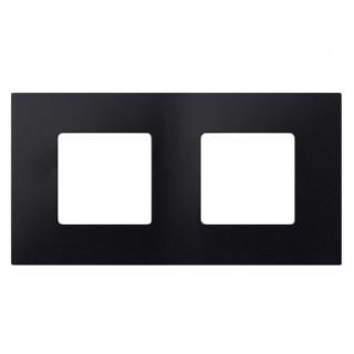 Декоративная накладка на рамку-базу, 2 места, S27Pl, артик чёрный