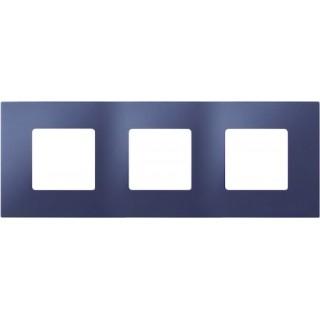 Декоративная накладка на рамку-базу, 3 места, S27Pl, синий