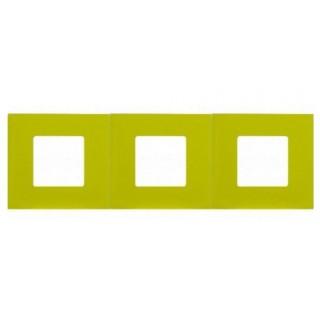 Декоративная накладка на рамку-базу, 3 места, S27Pl, фисташковый