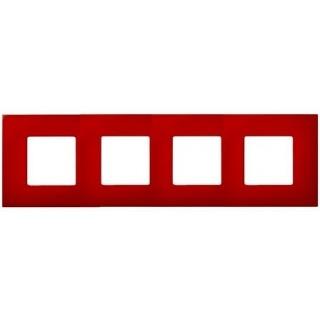 Декоративная накладка на рамку-базу, 4 места, S27Pl, красный