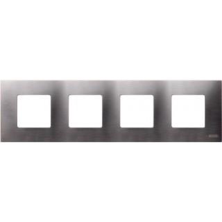 Декоративная накладка на рамку-базу, 4 места, S27Pl, титан