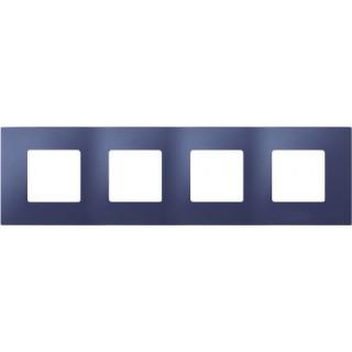 Декоративная накладка на рамку-базу, 4 места, S27Pl, синий