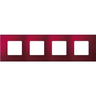 Декоративная накладка на рамку-базу, 4 места, S27Pl, артик красный