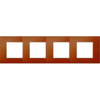Декоративная накладка на рамку-базу, 4 места, S27Pl, артик апельсин