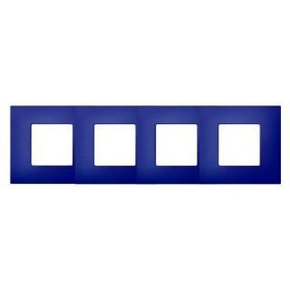 Декоративная накладка на рамку-базу, 4 места, S27Pl, артик синий