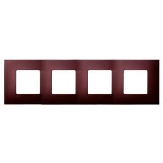 Декоративная накладка на рамку-базу, 4 места, S27Pl, артик баклажан