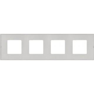 Декоративная накладка на рамку-базу, 4 места, S27Pl, прозрачный