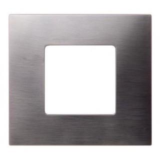 Декоративная накладка на рамку-базу, 1 место, S27Pl, титан