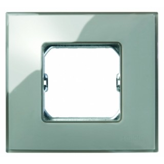 Рамка 1 место Simon 27771-34 дымчатое стекло