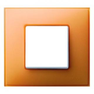 Рамка 1 место Simon 27771-64 оранжевый