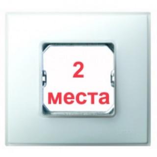 Рамка 2 места Simon 27772-60 белый матовый