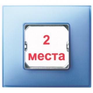 Рамка 2 места Simon 27772-63 бирюзовый