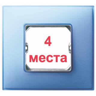 Рамка 4 места Simon 27772-63 бирюзовый