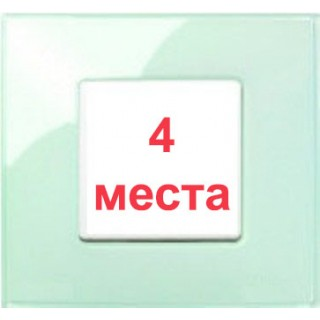Рамка 4 места Simon 27774-32 салатовый