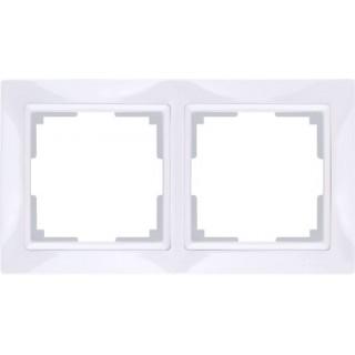 Рамка на 2 поста WL04-Frame-02-white белый