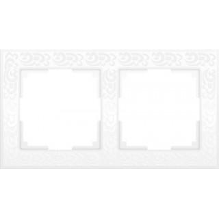 Рамка на 2 поста WL05-Frame-02-white белый