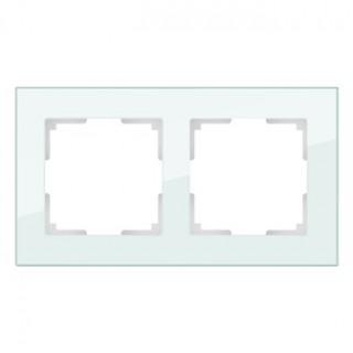 Рамка на 2 поста WL01-Frame-02 натуральное стекло