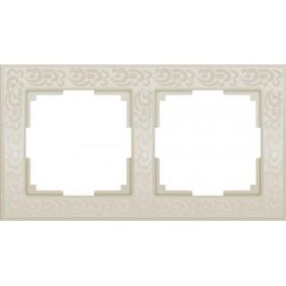 Рамка на 2 поста WL05-Frame-02-ivory слоновая кость