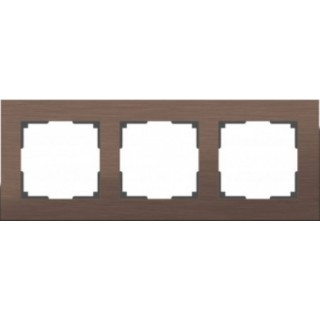 Рамка на 3 поста WL11-Frame-03 коричневый алюминий
