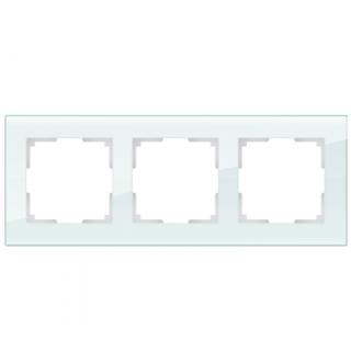Рамка на 3 поста WL01-Frame-03 натуральное стекло