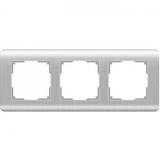 Рамка на 3 поста WL12-Frame-03 серебряный