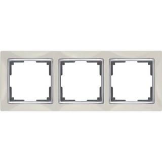 Рамка на 3 поста WL03-Frame-03 слоновая кость