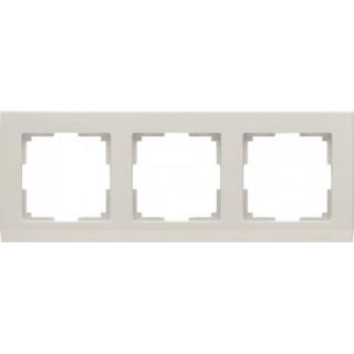 Рамка на 3 поста WL04-Frame-03 слоновая кость