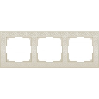 Рамка на 3 поста WL05-Frame-03 слоновая кость