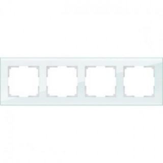 Рамка на 4 поста WL01-Frame-04 натуральное стекло