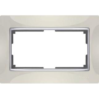 Рамка для двойной розетки WL03-Frame-01-DBL слоновая кость