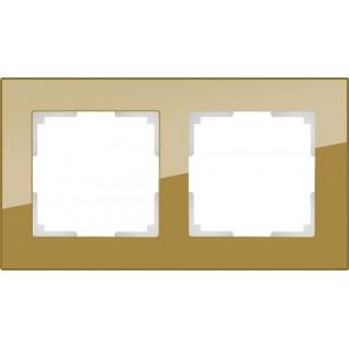 Рамка на 2 поста WL01-Frame-02 бронза