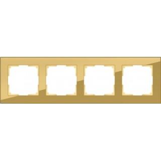 Рамка на 4 поста WL01-Frame-04 бронза