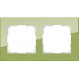 Рамка на 2 поста WL01-Frame-02 фисташковый