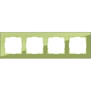 Рамка на 4 поста WL01-Frame-04 фисташковый