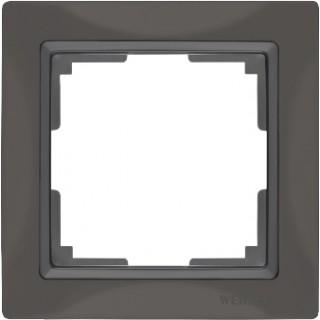Рамка на 1 пост WL03-Frame-01 серо-коричневый, basic