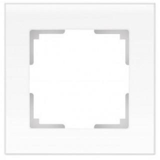 Рамка на 1 пост стекло WL01-Frame-01 белый