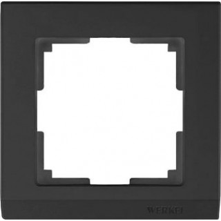 Рамка на 1 пост WL04-Frame-01 черный
