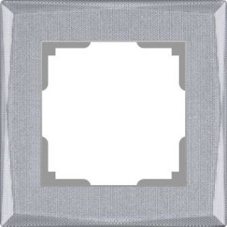 Рамка на 1 пост WL10-Frame-01 серебряный