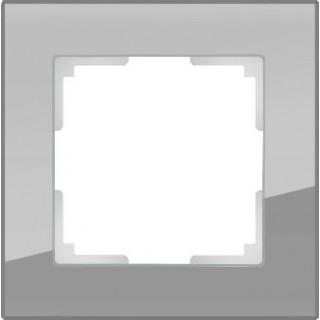Рамка на 1 пост стекло WL01-Frame-01 серый