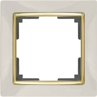 Рамка на 1 пост WL03-Frame-01 слоновая кость