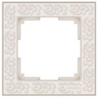 Рамка на 1 пост WL05-Frame-01-ivory слоновая кость