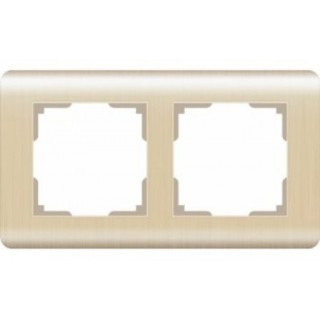 Рамка на 2 поста WL12-Frame-02 шампань