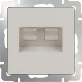 Розетка двойная Ethernet RJ-45 Werkel WL03-RJ45+RJ45-ivory слоновая кость