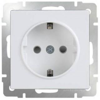 Розетка с заземлением WL01-SKG-01-IP20 белый