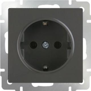 Розетка с заземлением WL07-SKG-01-IP20 серо-коричневый
