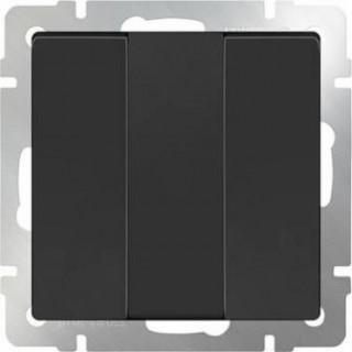 Выключатель трехклавишный WL08-SW-3G черный