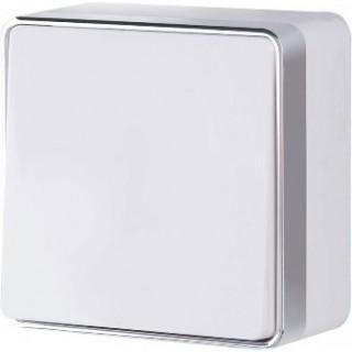 Выключатель одноклавишный WL15-01-01 белый