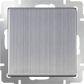 Выключатель одноклавишный проходной WL02-SW-1G-2W глянцевый никель