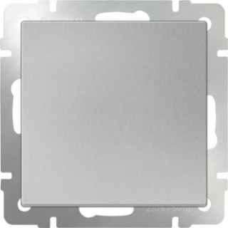 Выключатель одноклавишный WL06-SW-1G серебряный